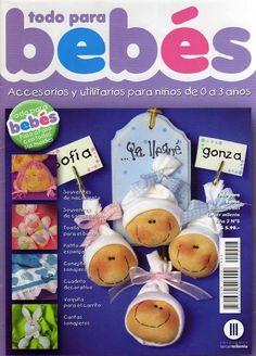 Tudo para bebes com passo a passo Magazine Crafts, Handmade Crafts, Teddy Bear, Diy, Baby Shower, Christmas Ornaments, Holiday Decor, Albums, Magazines