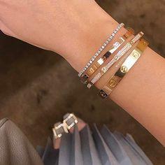 Cartier Jewelry, Cartier Love Bracelet, Diamond Jewelry, Gold Jewelry, Jewelry Accessories, Fashion Accessories, Women Jewelry, Stylish Jewelry, Cute Jewelry