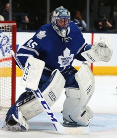 TORONTO, ON - DECEMBER 15: Jonathan Bernier #45 of the Toronto Maple Leafs makes a start against the Tampa Bay Lightning during game action on December 15, 2015 at Air Canada Centre in Toronto, Ontario, Canada. (Photo by Graig Abel/NHLI via Getty Images)