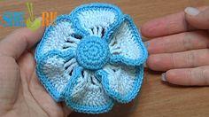 Crochet Flower Crochet Button Center Tutorial 40 (+playlist)