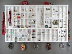 White Jewellery Organizer Display - Printer Drawer £115.00