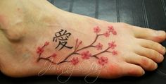My current obsession and dream - a cherrry blossom tattoo on my foot with the Mother-Daughter in Chinese, too bad I am such a wimp with pain.... sooze66