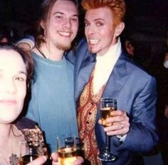 Duncan and David Bowie during Bowie's 50th Birthday Celebration Concert at Madison Square Garden in New York City, 1997.