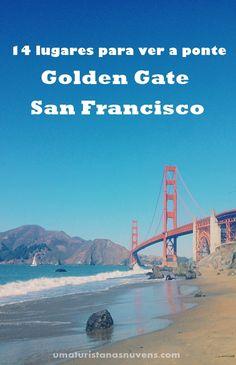 Conheça 14 lugares incríveis para fotografar a ponte Golden Gate em San Francisco na California.