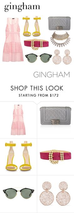 """Untitled #1500"" by filipaloves ❤ liked on Polyvore featuring Rochas, Chanel, Gianvito Rossi, Ray-Ban, Ippolita and WithChic"