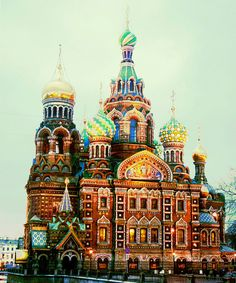 Church of the Saviour on Spilled Blood [ru: Храм Спаса на Крови]. Most coloured church in Christendom? Built on the site of Alexander II's demise.