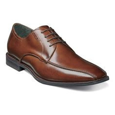 8ece916d2e8 Men s Stacy Adams Logan Bicycle Toe Oxford 25132 - Cognac Smooth Leather  Oxfords