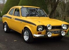 This 1971 ford escort mk 1 mexico daytona yellow rs is for sale. This 1971 ford escort mk 1 mexico daytona yellow rs is for sale. Vintage Sports Cars, Retro Cars, Vintage Cars, Escort Mk1, Ford Escort, Ford Capri, Ford Rs, Car Ford, Ford Classic Cars