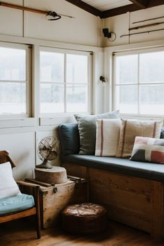 This Remote Fisherman's Shack Is A Little Slice of Heaven (The Design Files) Plans Architecture, Interior Architecture, Interior And Exterior, Interior Design, Nantucket, Small House Decorating, House By The Sea, The Design Files, Nautical Home