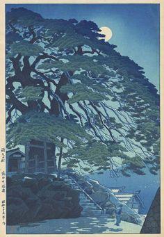 Pine Trees at Yudanaka Hot Spring by Shiro Kasamatsu, 1950