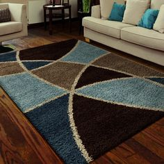 Carolina Weavers Shag Scene Collection Specter Multi Shag Area Rug x ft 3 in x 7 ft 6 in), Beige, Size x (Polypropylene, Geometric) Warm Colour Palette, Warm Colors, Geometric Rug, Geometric Designs, Brown Shag Rug, Where To Buy Carpet, Online Home Decor Stores, Outdoor Rugs, Home Decor Accessories
