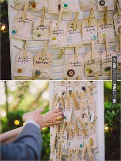 DIY escort card ideas | CHECK OUT MORE IDEAS AT WEDDINGPINS.NET | #weddings #escortcards #cards