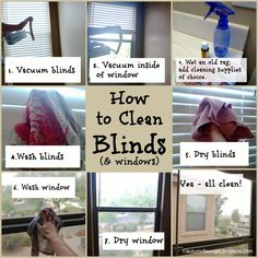 Brandi Raae: W is for Windows: How to Clean Blinds Cleaning Items, Cleaning Recipes, Cleaning Hacks, Cleaning Supplies, Glass Cleaning, Cleaning Blinds, Clean Freak, Diy Cleaners, Natural Cleaning Products