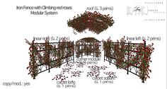 """Mesh """"Victorian Iron fence with climbing red roses""""   Flickr - Photo Sharing!"""