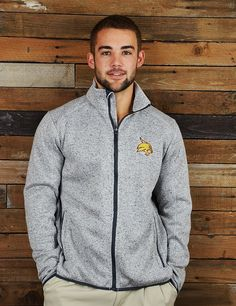 Keep warm and cozy on chilly Texas State nights in this great zip jacket, a Barefoot Campus Outfitter exclusive. Perfect for all you Bobcat guys and girls!