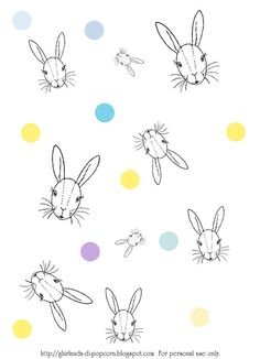 Ghirlanda di Popcorn | progetti creativi: Freebies #1: Easter Wrapping Paper