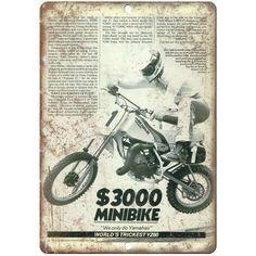 "Honda XR-75 Mr-50 Dirt Bike Ad 10/"" x 7/"" Reproduction Metal Sign A475"