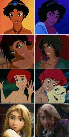 Disney Gender Bender (Aladdin, Esmerelda, Ariel, rapunzel)<<<i'm here for esmeralda's gender swap << same and I want a piece of that hot ass Disney Pixar, Arte Disney, Disney Fan Art, Disney And Dreamworks, Disney Animation, Disney Love, Disney Magic, Disney Jasmine, Disney Rapunzel