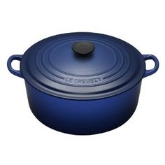 5.5 Quart Le Crueset French (read: Dutch) Oven. This one is a particularly lovely shade of blue. $240