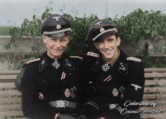 On the left, SS-Obersturmführer Willi Hein, and to his right is his best friend, SS-Obersturmführer Kurt Schumacher (with CP signature)