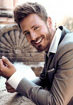elegant clothes + handsome smile = stylish man