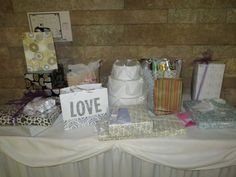 Amanda and Zak's gift table...filling up fast!