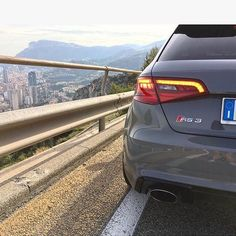 Road with a view. Oh wait - is there Monaco in the pic too? #Audi #RS3…