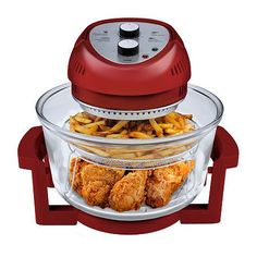 kartoffelecken backofen The Big Boss 16 Quart capacity Oil-Less Fryer allows you to make heart-healthy meals without the added calories that come with using a tradit Air Fryer Sale, Oil Less Fryer, Air Fryer Recipes Low Carb, Air Fryer Review, Crispy French Fries, Baked Fish, Roasted Turkey, Grilled Meat, Different Recipes