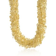 Featuring one of November's gemstones, this Citrine Torsade Necklace in Sterling Silver is a bold gift choice. #November #birthday