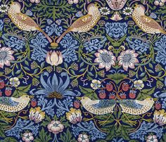 William Morris Strawberry Thief  fabric by neilepi on Spoonflower - custom fabric