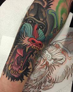 Isnard Barbosa H Tattoo, Tatto Old, Arm Tattoos, Cool Tattoos, Skull Tattoo Flowers, Flower Tattoos, Gorilla Tattoo, Monkey Tattoos, Ink Master