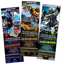 Party Invitations Printable on Transformers 3 Party Invitations
