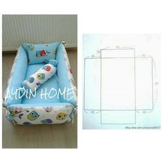 Baby Diy Knit Sewing Projects Ideas Çocuk Odası – home accessories Baby Sewing Projects, Sewing For Kids, Knitting Projects, Quilt Baby, Portable Baby Bed, Kit Bebe, Baby Pillows, Baby Crafts, Baby Accessories
