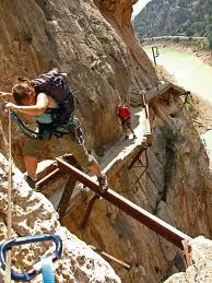 """Camino Del Ray, Spain: Dubbed the """"Most dangerous walk way in the world"""".  Where do I sign up?!"""