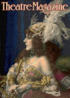 1921 Theatre Magazine Cover Art Deco Cross Stitch Pattern - PDF Instant Download