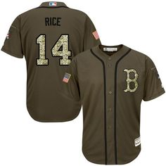 red sox 14 jim rice green salute to service stitched mlb jersey