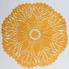 Fern Leaf Doily by Signed With an Owl - Has link to free pattern