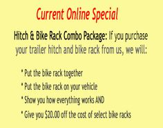 Hitch House Online Specials