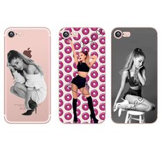 Phone cases beautiful girl ariana grande Crystal clear soft silison case cover for Apple iPhone 7 7plus 6 6S 5S SE 6plus 6splus