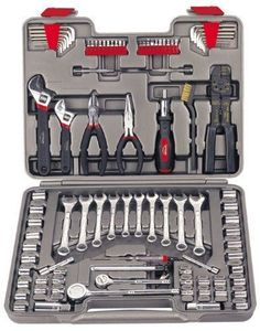 Gifts For Him Mechanics Tool Kit W/Case 95-Piece Chrome Plated Heat Treated #ApolloPrecisionTools