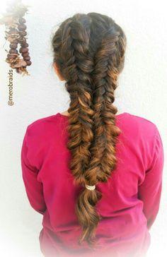 Messy ,pancaked weaved dutch fishtail braids
