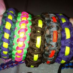 Para cord survival bracelets made by Isaac!!!