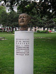 Büste im Bruno-Kreisky-Park