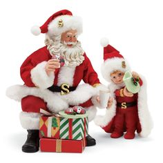 Department 56 Santa and His Pets Purr-FECT Greeting Figurine 12.2 Multicolor 6001649