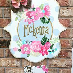 Sweet as a rose baby door hanger baby door announcement nursery decor flower Porta Do Hospital, Hospital Door Hangers, Baby Door Hangers, Wooden Door Hangers, Girl Nursery, Nursery Decor, Nursery Signs, Nursery Ideas, Birth Announcement Sign