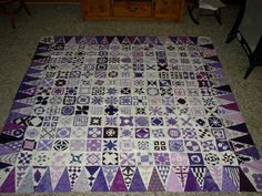 Purple Passion Dear Jane Quilt Have seen a lot of Dear Jane quilts, this one makes me want to make one. Oh well Someday