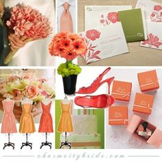 pretty much my color scheme! I have always loved the apple green and thought coral complimented it to be romantic, but still fresh and fun!