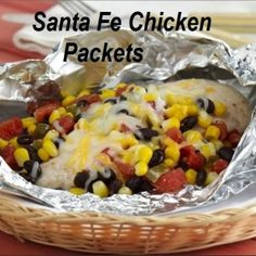 Find out the 4 ingredients you need for frugal summer meals & check out this GREAT recipe for Santa Fe Chicken Packets. Frugal and full of flavor!