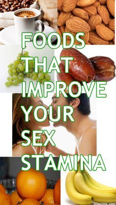 """Foods that Improve Your Sex Stamina.  Joe will love this.  It's his running joke. """"Eat __. It will make your d!ck HARD!"""""""