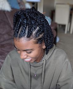 natural hair twists candacee_renee This was supposed to be a twist out but it turned into a protective style but I will probably take the twists down this Protective Hairstyles For Natural Hair, Natural Hair Twist Out, Natural Twist Hairstyles, Natural Protective Styles, Natural Twists, Scene Hair, Girl Hairstyles, Braided Hairstyles, Black Hairstyles